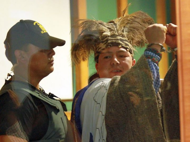 Machi Celestino Córdova, prisionero político Mapuche